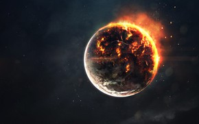 Picture Stars, Fire, Planet, Space, Star, Apocalypse, Hell, Flame, Cataclysm, Fire, Star, Art, Stars, Space, Art, …