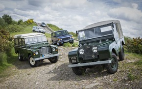 Picture Land Rover, Range Rover, Defender, Series I, Series III, SUVs (mostly)