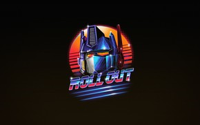 Picture Minimalism, Art, Neon, Optimus Prime, Transformer, Autobots, Optimus, 80's, Retrowave, Roll Out, Synthwave, by Vincenttrinidad, …