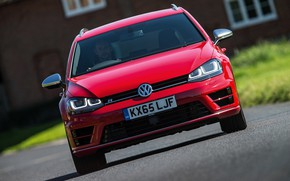 Picture red, Volkswagen, front, universal, 2015, Golf R Estate