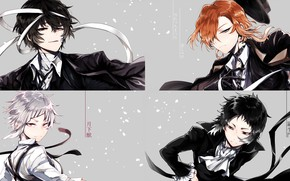 Picture collage, guys, Bungou Stray Dogs, Stray Dogs: A Literary Genius