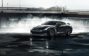 Picture Auto, Black, Machine, Nissan, Nissan GT-R 35, GT-R 35, Mikhail Sharov, Transport & Vehicles, by …