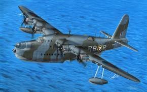 Picture Military, Seaplane, Flying boat, Velikobritaniya, Short Sunderland, Short Sunderland Mk.II