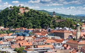 Picture mountains, home, Austria, panorama, Graz