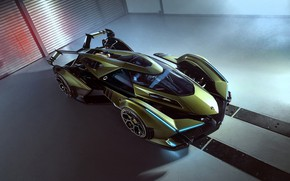 Picture Lamborghini, The concept car, Lambo, Drives, V12, Wing, Vision Gran Turismo, 2019, Lambo V12 Vision