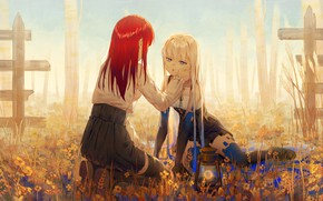 Picture background, girls, anime