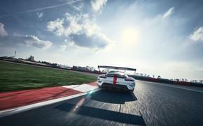 Picture The sky, Clouds, Porsche, Speed, Porsche 911, Wing, 2020, Porsche 911 RSR