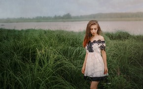 Picture water, girl, dress, Alexander Drobkov-Light, Sue Tikhonova