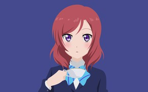 Picture look, portrait, girl, Cup, Love Live School Idol Project, Living love