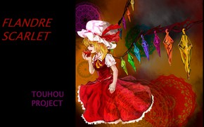 Picture vampire, red Apple, Flandre Scarlet, project East, touhou project, vampire girl, отравленное, by Nokonokoro