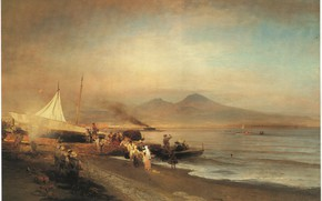 Picture The Bay of Naples, Achenbach, Oswald, THE BAY OF NAPLES