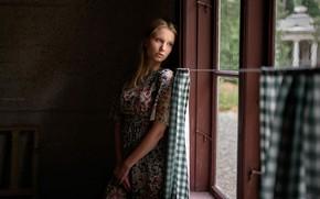 Picture sadness, dress, window, iCONA pICTURA, Sergei Circle Mountain