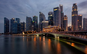 Picture the city, the evening, Singapore, Singapore
