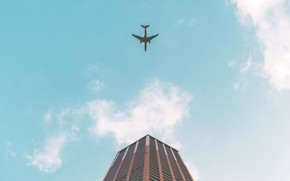 Picture Clouds, Sky, Building, Aircraft