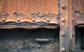 Picture background, steel, rust