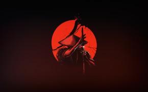 Picture The sun, Minimalism, Japan, Sword, Warrior, Samurai, Art, Katana