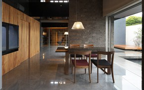 Picture design, style, interior, dining room, House in Japan, 石材-株式会社tn, by Hiraoka Architects