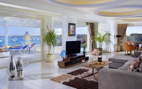 Picture Villa, interior, terrace, living room, dining room, villa on White beach