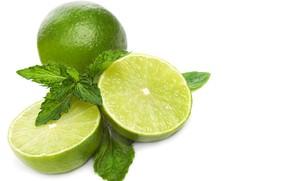 Picture lemon, lime, citrus, slice