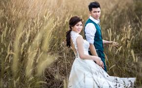 Picture girl, pose, dress, guy, lovers, the bride, Sonam Prajapati