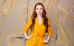 Picture actress, red, Madelaine Petsch