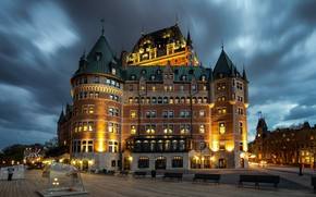 Picture lights, the evening, Canada, Quebec, QC