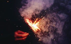 Picture holiday, new year, hand, Christmas, burns, sparklers, Timothy Eberly