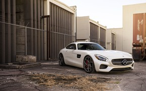 Picture Mercedes, AMG, White, GTS, Vossen, Sight