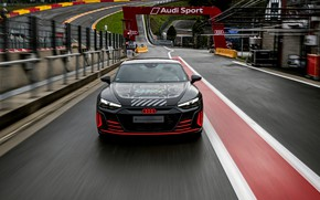 Picture Audi, coupe, track, the fence, front view, 2020, RS e-Tron GT Prototype