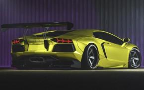 Picture Auto, Green, Machine, Car, Supercar, Aventador, Lamborghini Aventador, Sports car, Green, Transport & Vehicles, by ...
