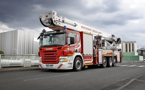 Picture scania, fire truck, fire Department, R 500