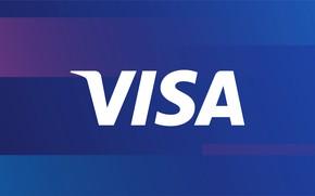 Picture background, logo, logo, blue, visa, fon, visa
