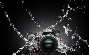 Wallpaper water, squirt, the camera, Pentax K-5IIs