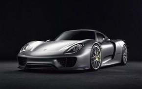 Picture Auto, Machine, Grey, Car, Car, Render, Spyder, 918, Rendering, Sports car, Porsche 918 Spyder, Grey, …