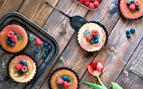 Picture berries, raspberry, dessert, tartlets, Anya Ivanova