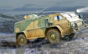 Picture Russia, for the transportation of people and goods, Vodnik, Russian car, in difficult areas, GAZ-3937
