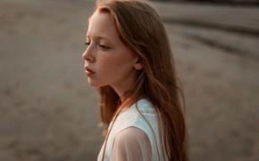 Picture girl, freckles, Juliana Naidenova