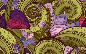 Picture pattern, texture, ornament, colorful, twisted