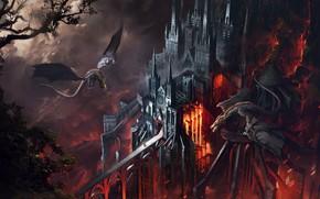 Picture Dragon, Cathedral, Fire, Castle, Flame, Fantasy, Dragon, Fire, Architecture, Flame, Dragons, Cathedral, Fiction, Castle, Illustration, …