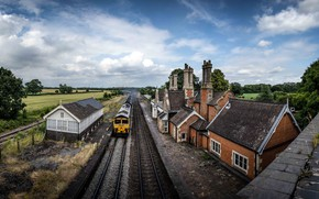 Picture railroad, England, Ulceby, Brocklesby Coals