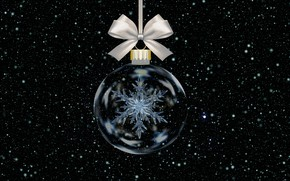Picture ball, New Year, Christmas, snowflake