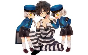 Picture children, the game, anime, art, guy, characters, prisoner, Persona 4, Person 4