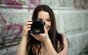 Picture girl, camera, Simone