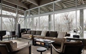Picture room, interior, living room, River House