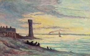 Picture landscape, picture, 1929, Honfleur, Maximilien Luce, Maximilien Luce