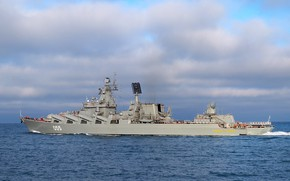 Picture cruiser, The black sea, Marshal Ustinov