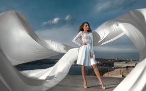 Picture look, pose, hair, skirt, Girl, legs, Jura Tradesman