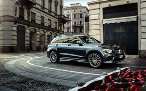 Picture the city, transport, turn, car, Mercedes Benz GLC