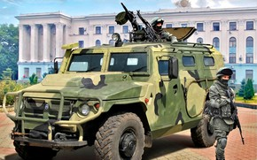 """Picture The armed forces of Russia, Armored car, Soldiers, """"Tiger"""", military vehicle-SUV"""