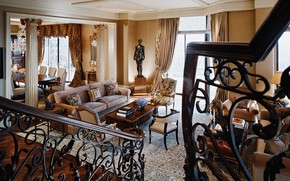 Picture interior, living room, dining room, Beverly-Hills, Wilshire Penthouse, Kimmel
